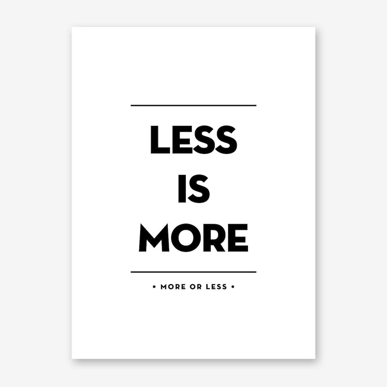 Less Print