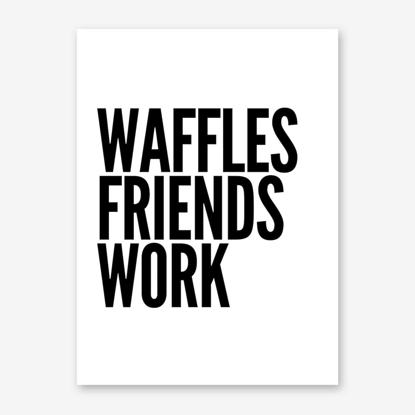 Waffles Print