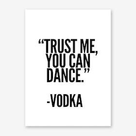 Vodka Art Print