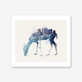 City Deer Art Print