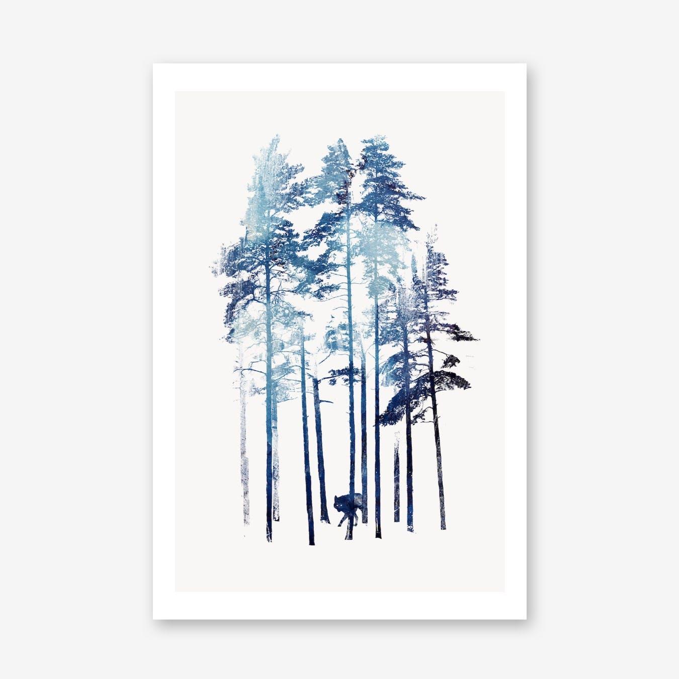 Winter Wolf Print
