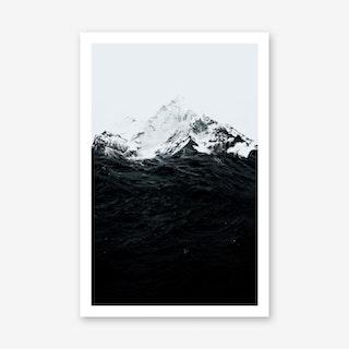 Those Waves Were Like Mountains Art Print