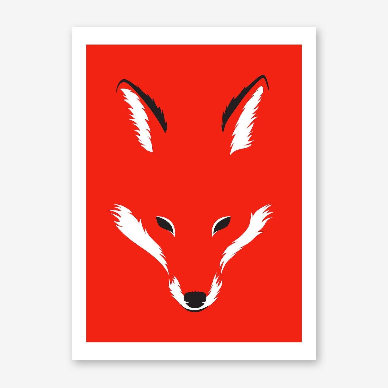 Foxy Shape Print