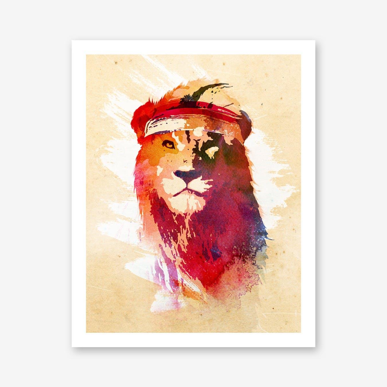 Gym Lion Print
