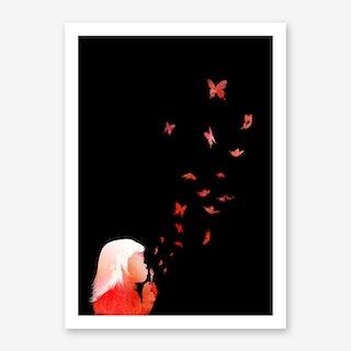 Blowing Butterflies Art Print