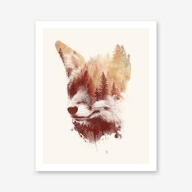 Blind Fox Art Print