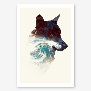 Night Swim Final 2 Art Print