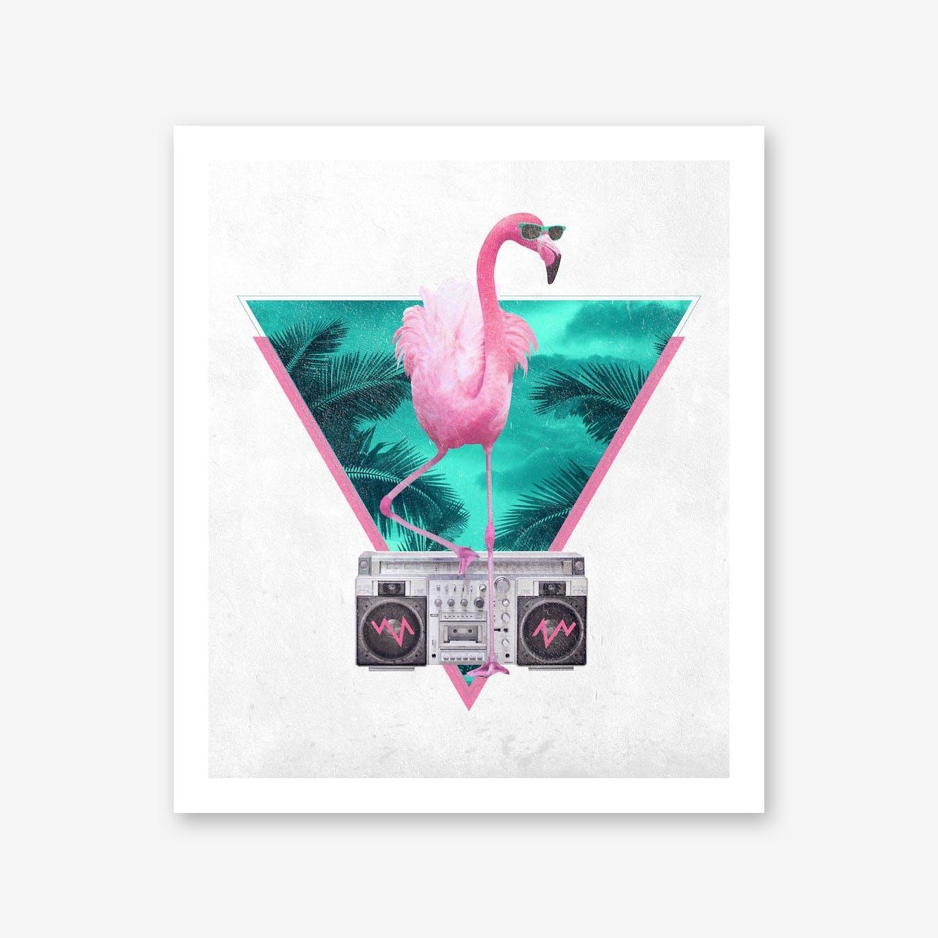 Miami Flamingo A3 Print
