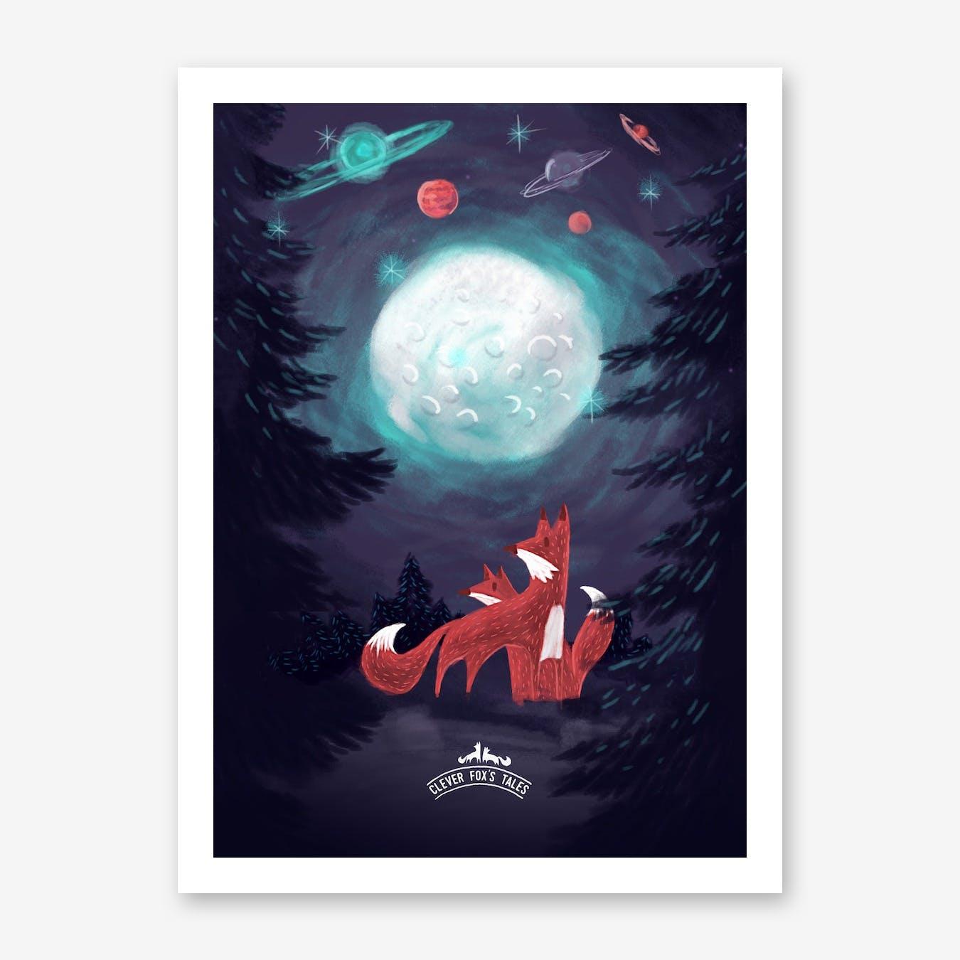 Clever Foxs Tales Print