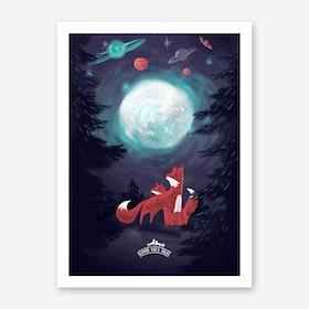 Clever Foxs Tales Art Print