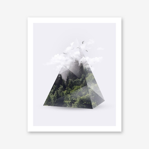 Forest Triangle Print