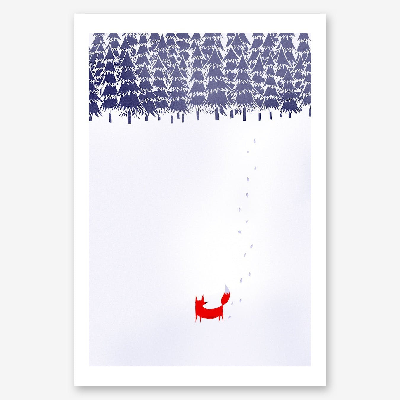 Alone In The Forest Print