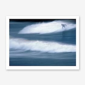 Surfing The Winter Sea Art Print