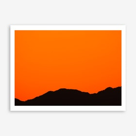 Sunset Over the Mountains of Eilat I Art Print