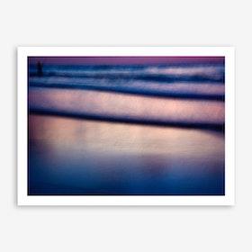 Blurry Fisherman Print
