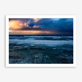 Storm Over The Mediterranean Print