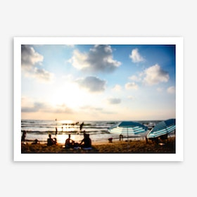 Late Afternoon At The Beach Art Print