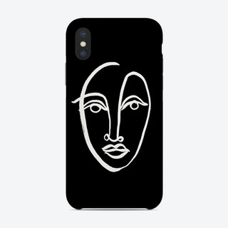 Faces 9 Bw Phone Case