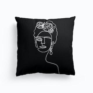 Frida Kahlo Bw Cushion