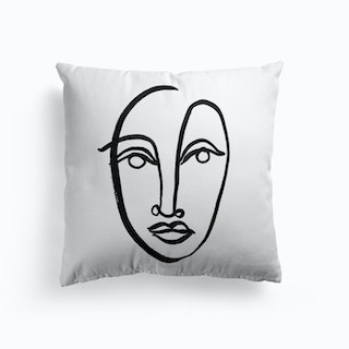 Faces 9 Cushion