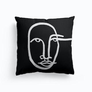 Faces 11 Bw Cushion
