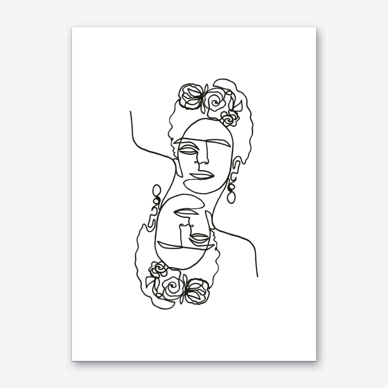 Frida Kahlo Double Art Print