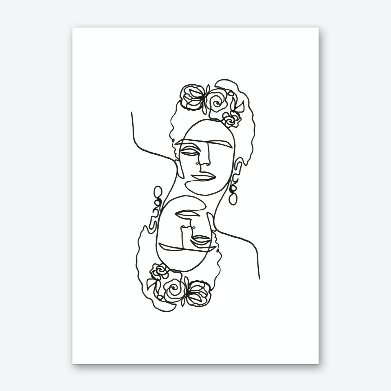 Frida Kahlo Double Art Print
