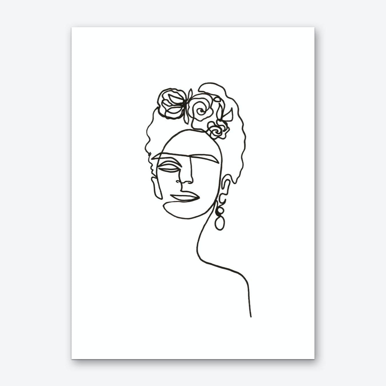 Canvas FRIDA KAHLO IMAGE PICTURE Art Print Poster
