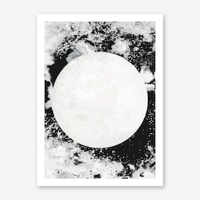Moon Black White Art Print