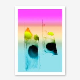 Blurred Dots II Art Print