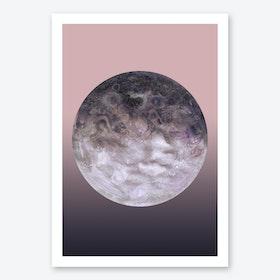 Quaoar Lilac Gradient Art Print
