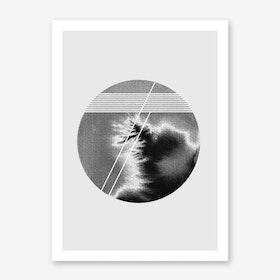 Lines and Circle Art Print