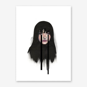 Baby Don't Cry Black Art Print