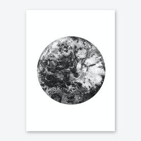 Silver Moon Print By Julia Hariri