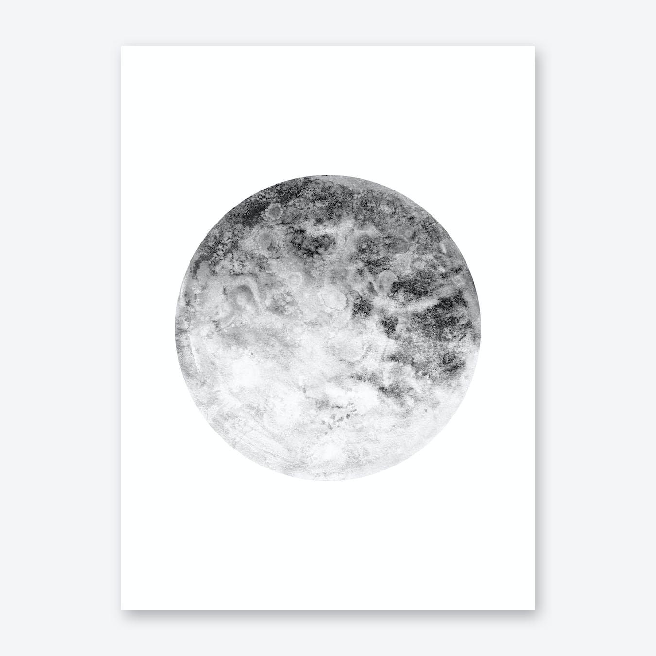 Silver Moon Print