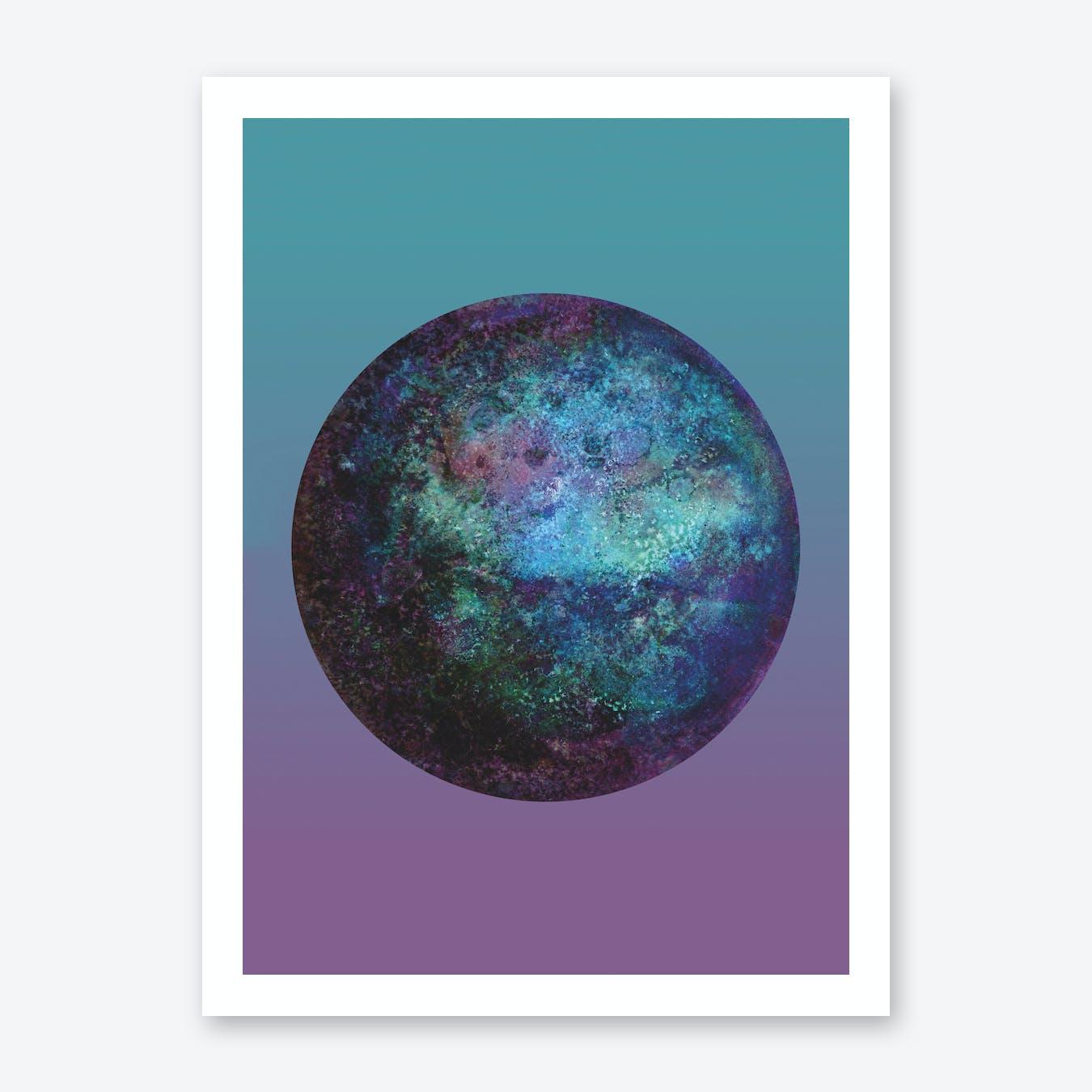 Keppler-22B Blue Gradient  Print