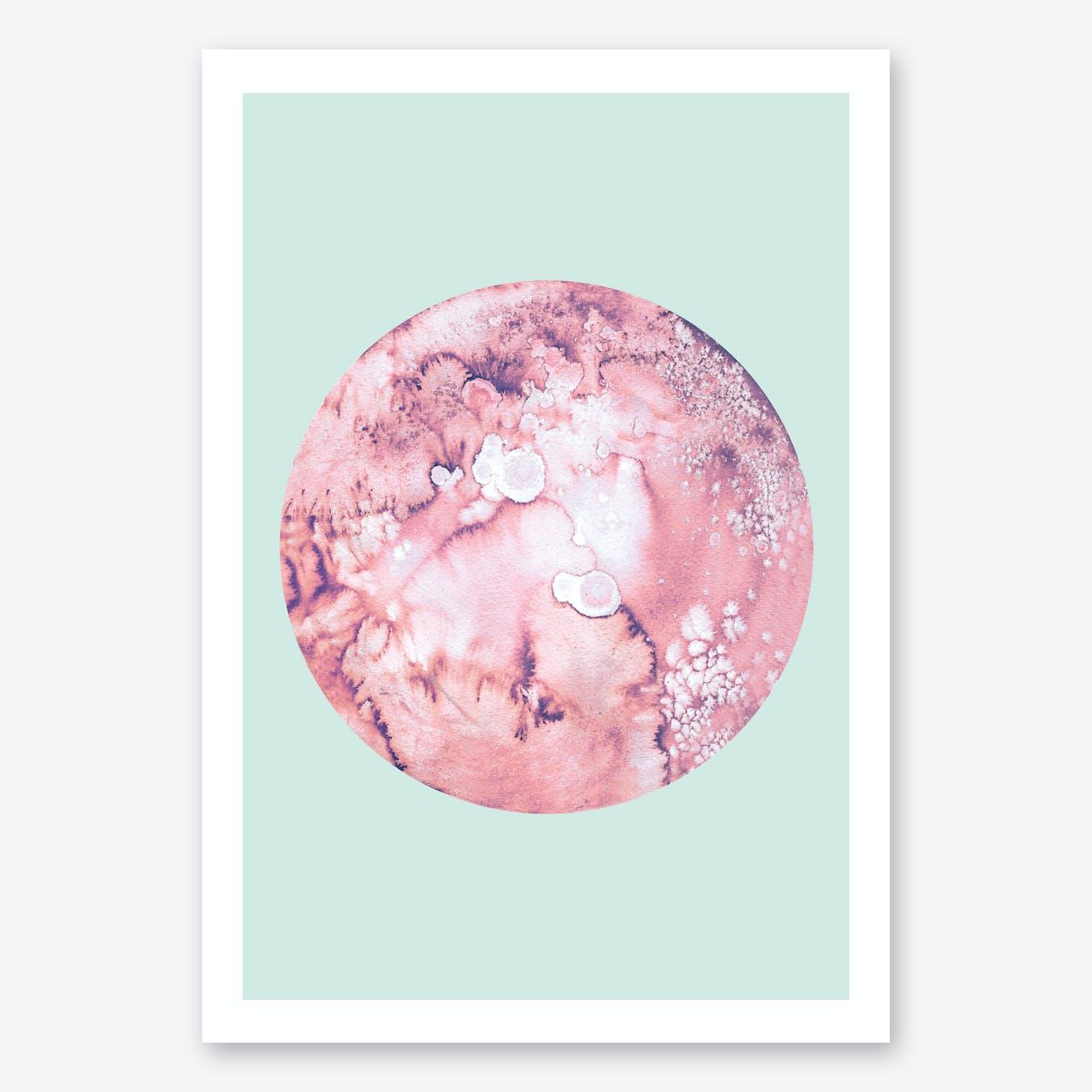 Pluto Mint Print