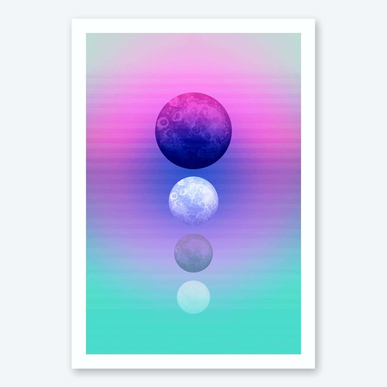 Moon Quartett Art Print