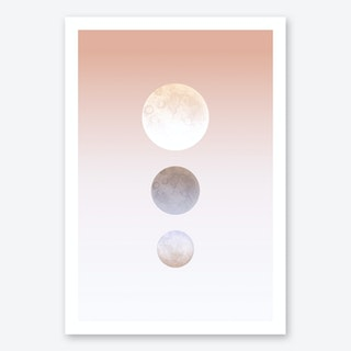 Moon Triplet Art Print