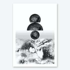 Walking on Lunar 2.0 Art Print