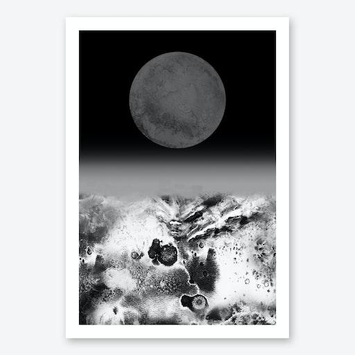 Walking On Lunar Art Print