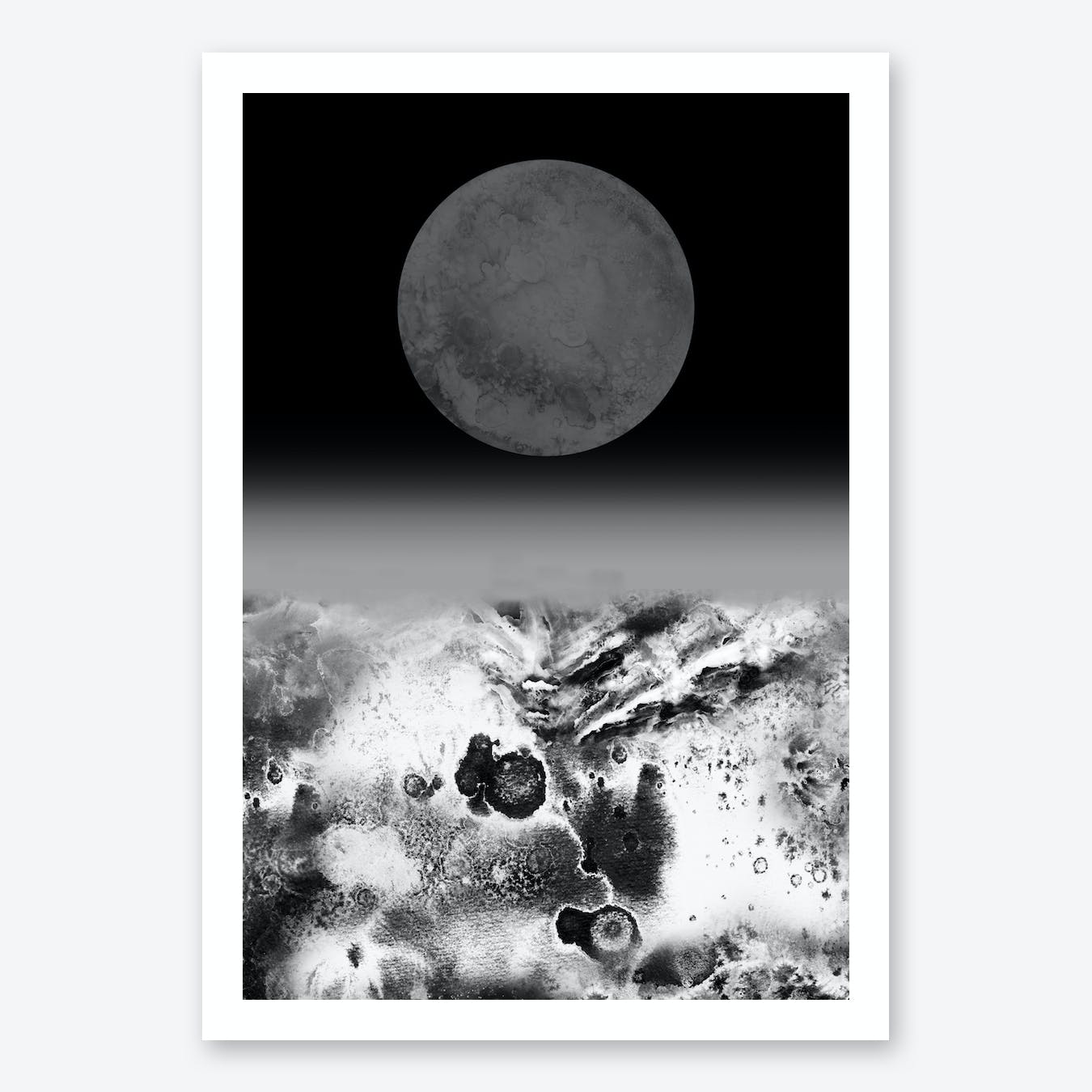 Walking On Lunar Art Print