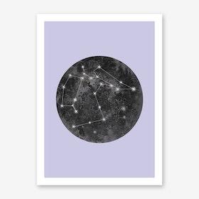 Constellation Lilac Art Print
