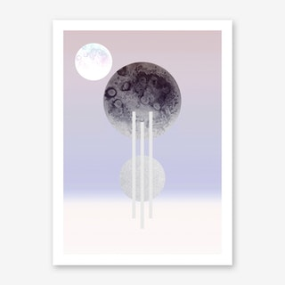 Dream Of The Glitter Moon Art Print