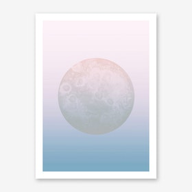 Light Pastel Moon Art Print