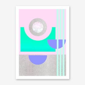 Metallic Mint Art Print