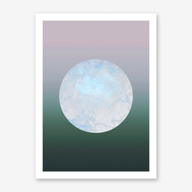 Metallic Moon Gradient Art Print