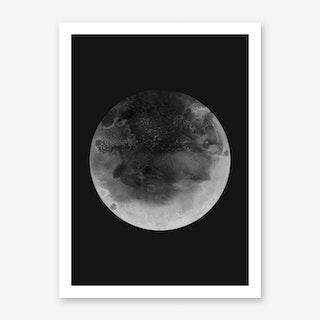 Moon Charcoal Art Print