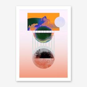Pulsar Orange Art Print