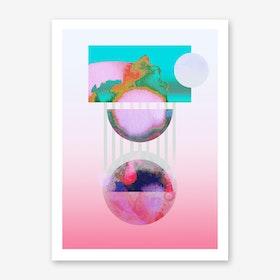 Pulsar Pink Art Print